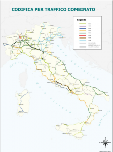 linee ferroviarie nazionali divise per capacita' di carico